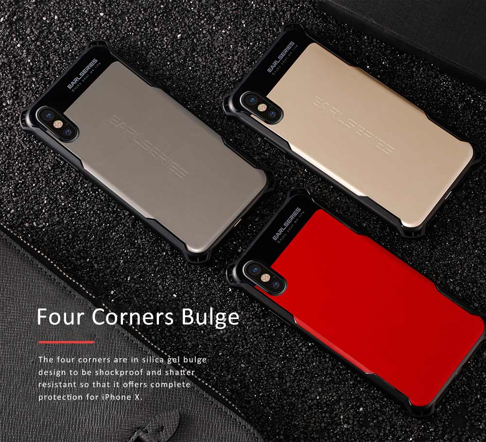 Smart Phone Protective Case for iPhone X, iPhone7, iPhone 8, Simple Style Phone Shell Cover, Anti-impact Anti-scratch Phone Case 3