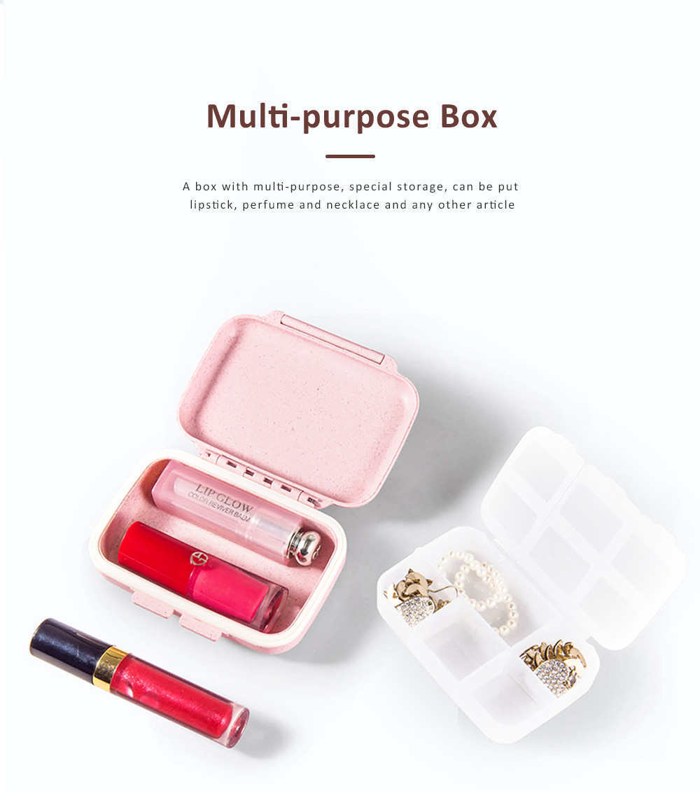 Suitcase Shape Pill Case with Handle Strap, Multiple Compartments Pill Box for Kids, Elderly, Pill Storage Organizer 3
