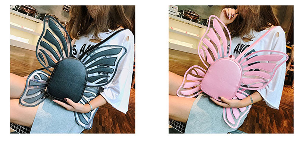 Angles Wings Women Backpack PU Material Knapsack Butterfly Shape Pack-sack for Women 3