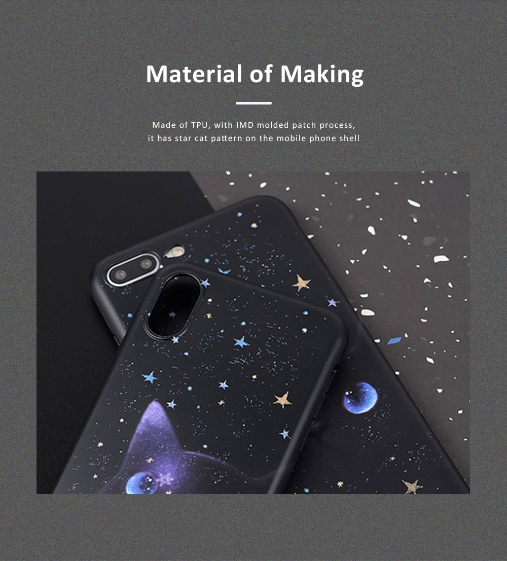 Star Cat IMD Apple XSMAX All-inclusive TPU Soft Shell Phone Cover for IPhoneX8plus7 Mobile Phone Shell 5