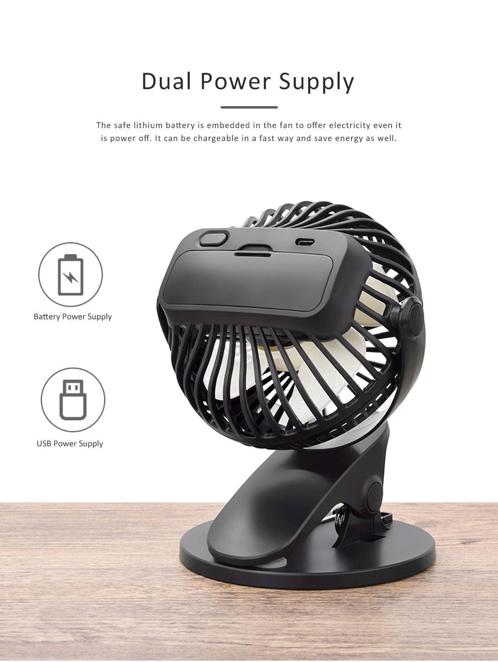 Vehicle-mounted Mini Fan,  Mini Fan USB with Durable Clip Cool Mini Fan for Summer Home, Car, Office 2