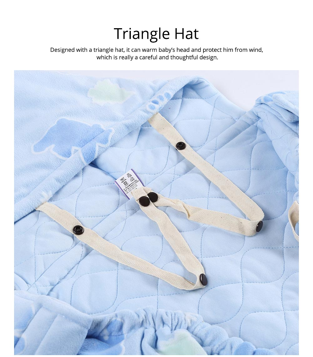 Newborn Baby Carrier Cloak Windproof Warm Hip Seat Back Strap with Triangle Hat for Infant 6