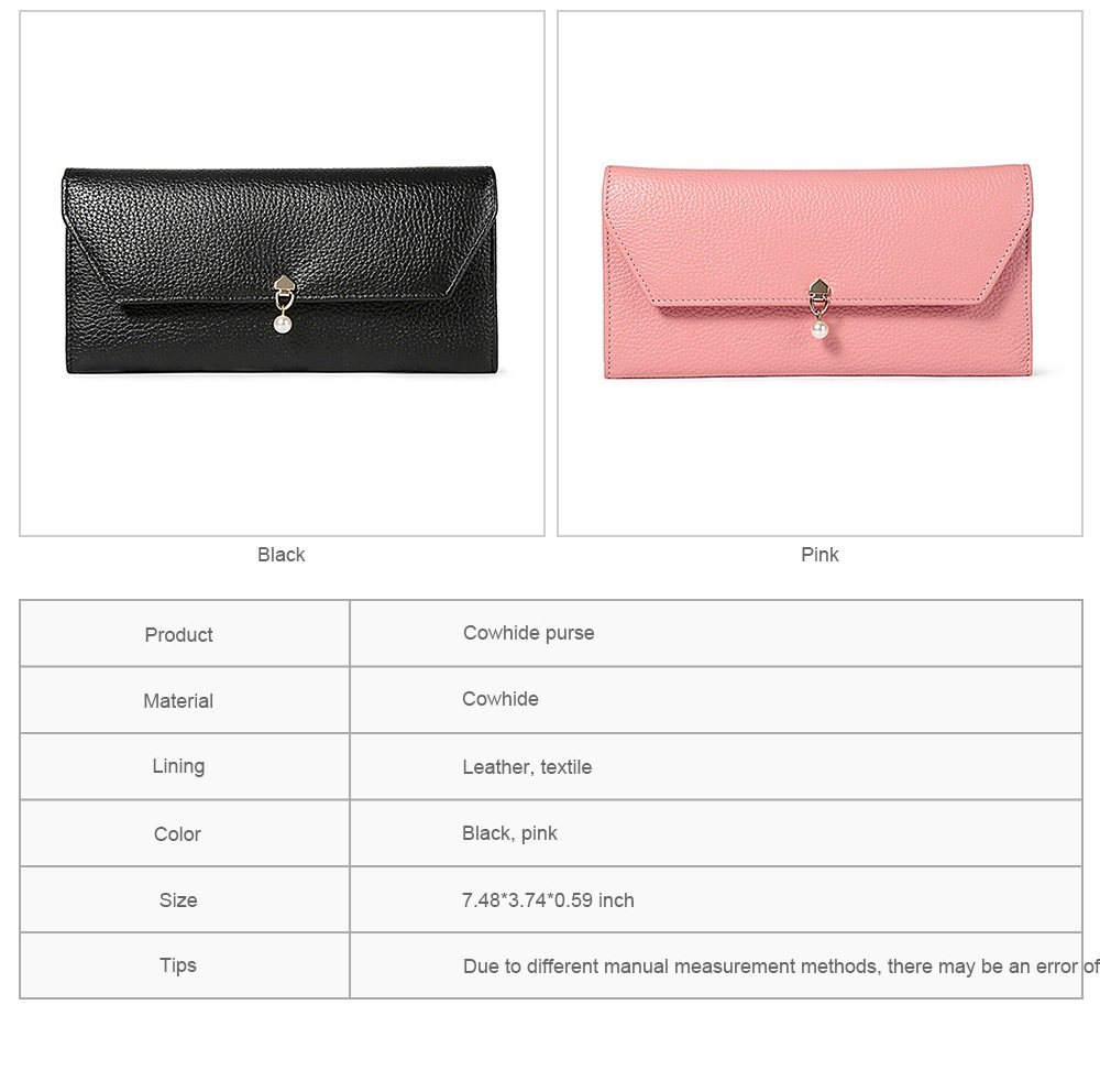 TUCANO Genuine Leather Clutch, Fashion Simple Personality Long Purse, Women Ladies Girl 2019 New Clutch Bag 7