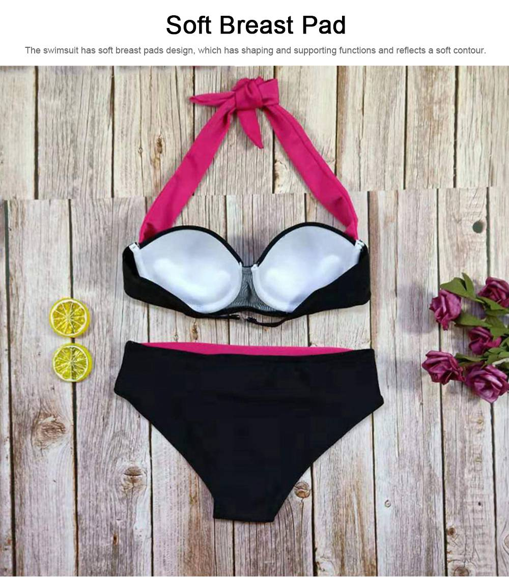 Sexy Halterneck Bikini, Tankinis Color Matching Swimsuit,  Women 2019 Bathing Suit 5