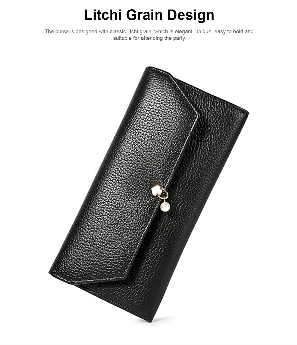 TUCANO Genuine Leather Clutch, Fashion Simple Personality Long Purse, Women Ladies Girl 2019 New Clutch Bag 1