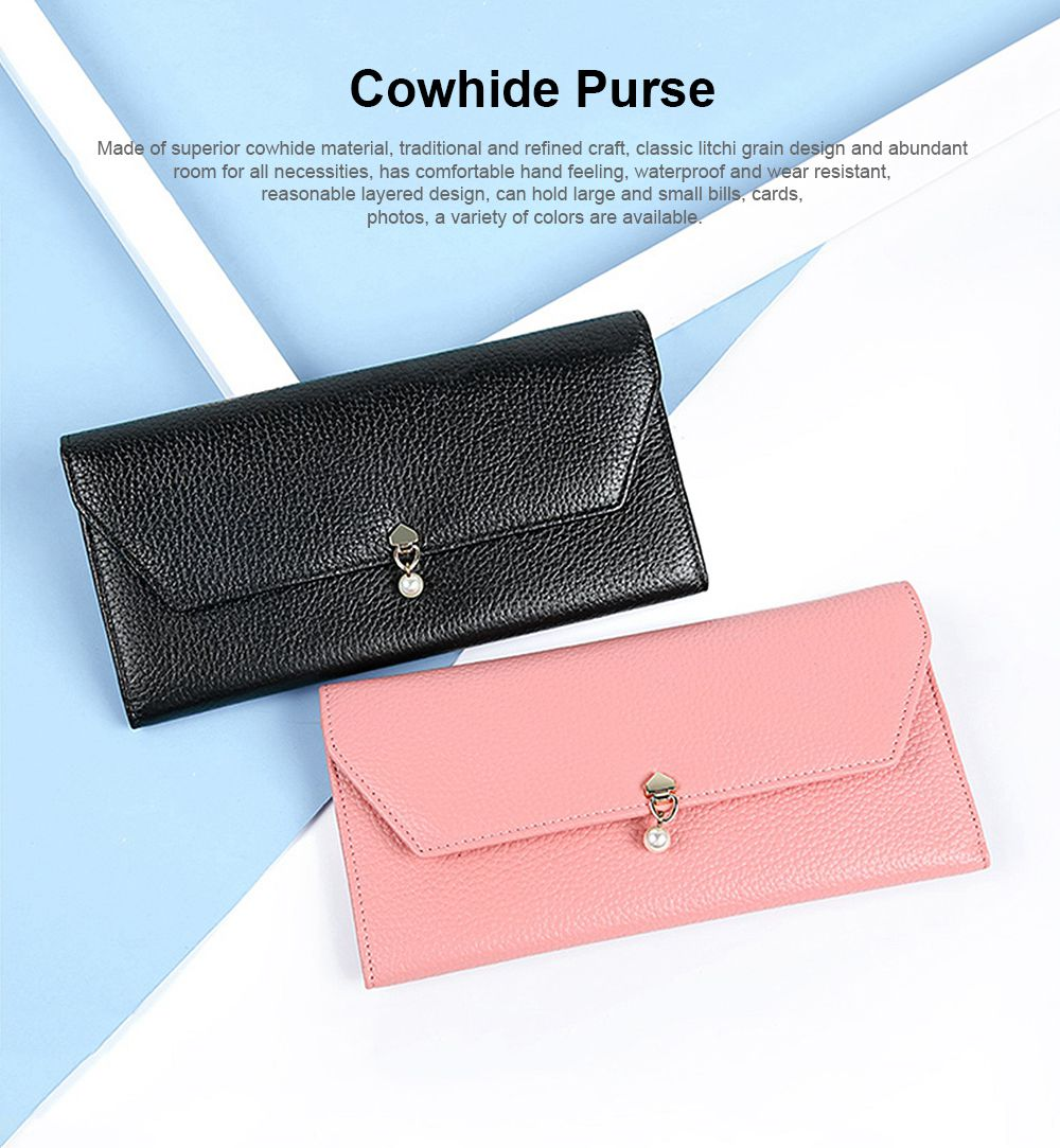 TUCANO Genuine Leather Clutch, Fashion Simple Personality Long Purse, Women Ladies Girl 2019 New Clutch Bag 0