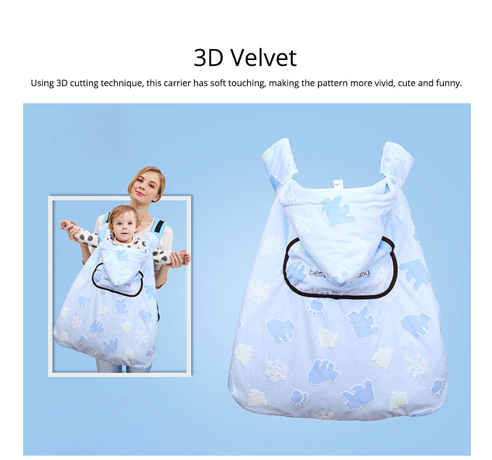 Newborn Baby Carrier Cloak Windproof Warm Hip Seat Back Strap with Triangle Hat for Infant 4
