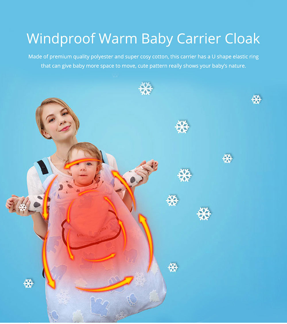 Newborn Baby Carrier Cloak Windproof Warm Hip Seat Back Strap with Triangle Hat for Infant 0
