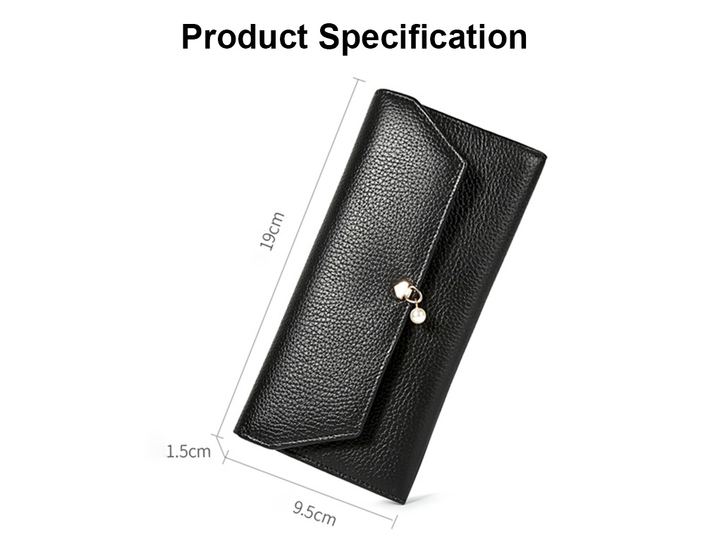 TUCANO Genuine Leather Clutch, Fashion Simple Personality Long Purse, Women Ladies Girl 2019 New Clutch Bag 6