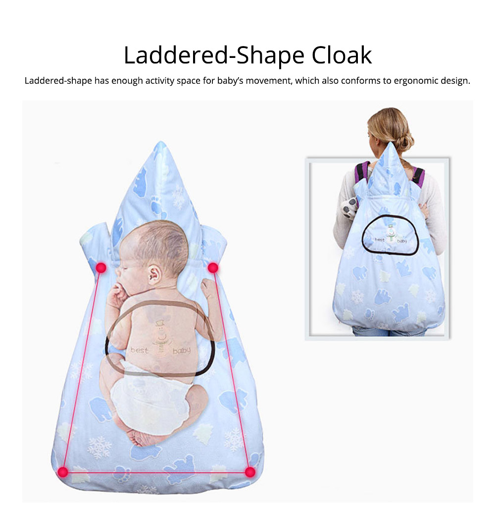 Newborn Baby Carrier Cloak Windproof Warm Hip Seat Back Strap with Triangle Hat for Infant 3