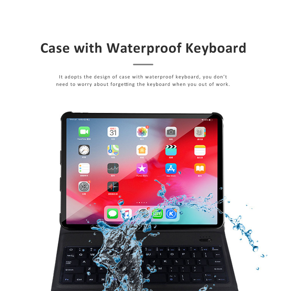 Ultra Thin Bluetooth Keyboard Case for iPad Pro 11 inches 2018, iPad Case with ABS Waterproof Keyboard for Apple iPad Pro 11 5