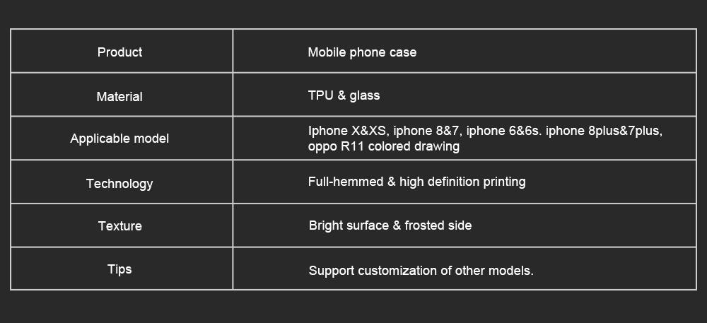 Mobile Phone Case Full-hemmed Fish Cat Starry Sky Smart Phone Back Cover Shell for Apple iphone X, 6s, 7plus, 8, OPPO R11 7