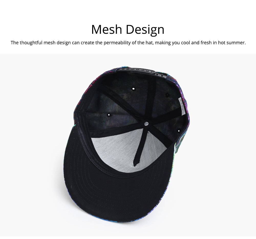 Unisex Style Men Women Baseball Cap Hip Pop Style Outdoor Street Dance Cap with Stylish Pattern 1