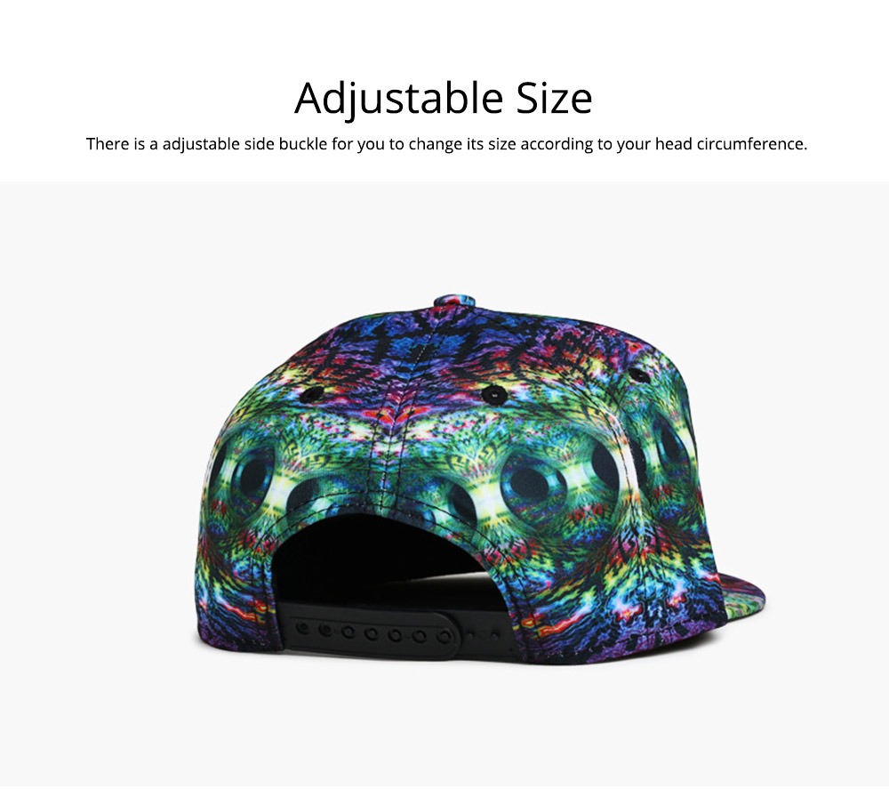 Unisex Style Men Women Baseball Cap Hip Pop Style Outdoor Street Dance Cap with Stylish Pattern 2