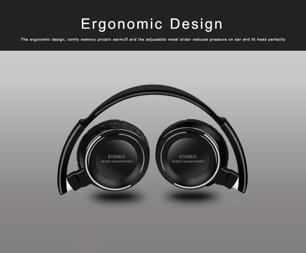 Bluetooth V4.2 Headset, Wireless Hi-Fi Stereo Noise Cancelling Over-ear Headphone with Built in Microphone 5