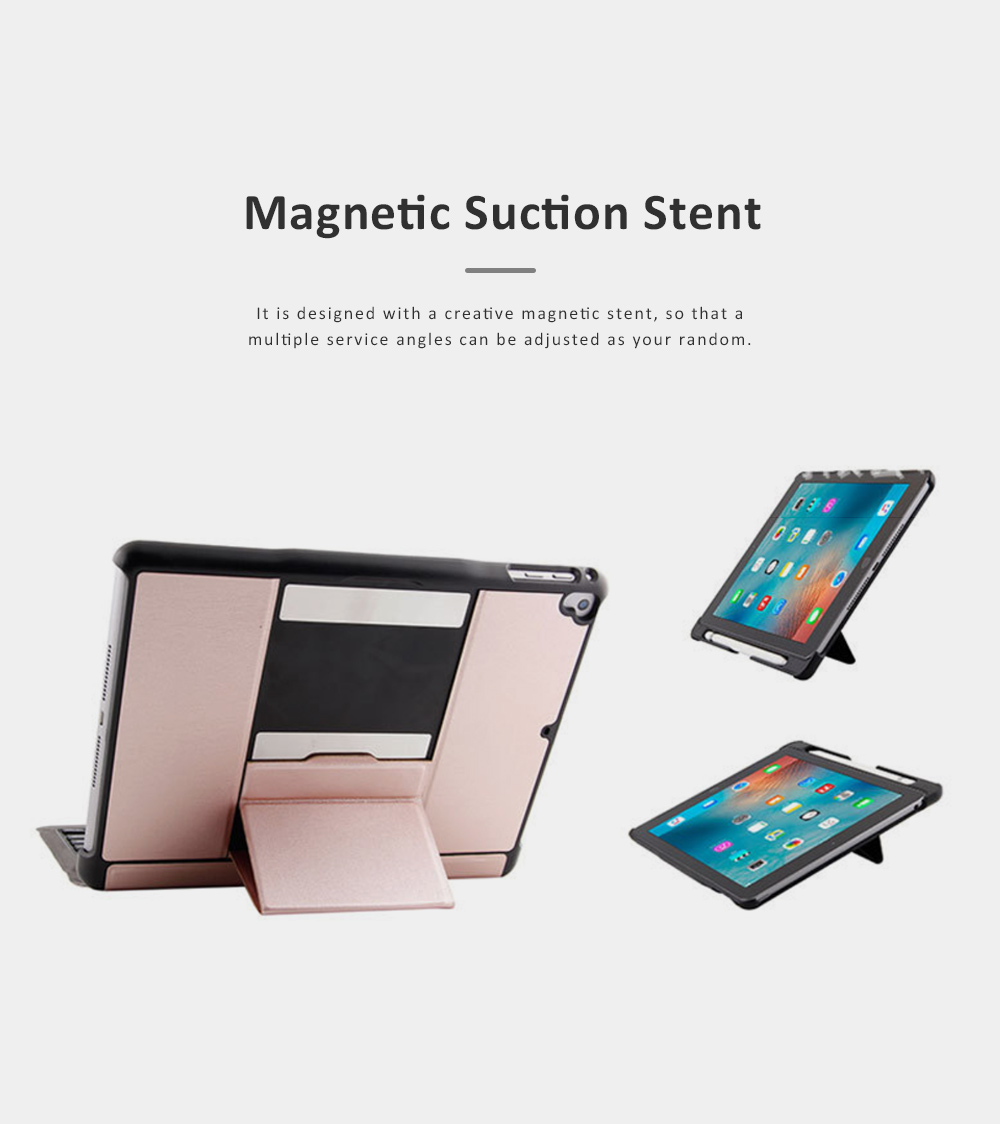 Bluetooth Keyboard Magnetic Flip Case for iPad Air 1, iPad Air 2, iPad Pro 9.7, iPad 9.7 2018, iPad 9.7 2017, Ultra- Thin Split Type New iPad 9.7 Colorful Backlit External Bluetooth Protective Cove 2