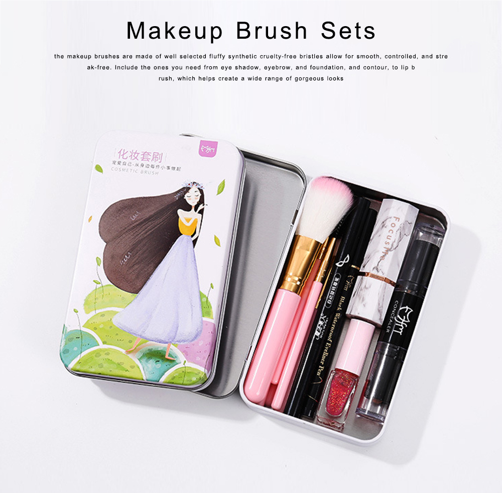 Makeup Brush Sets 10 PCS Makeup Brushes for Face Eyeshadow Eyebrow Blush Contour Foundation Fluffy Crease Cosmetic Brush Set Pink Best Gift for Lady Girl With Delicate Package Box 0