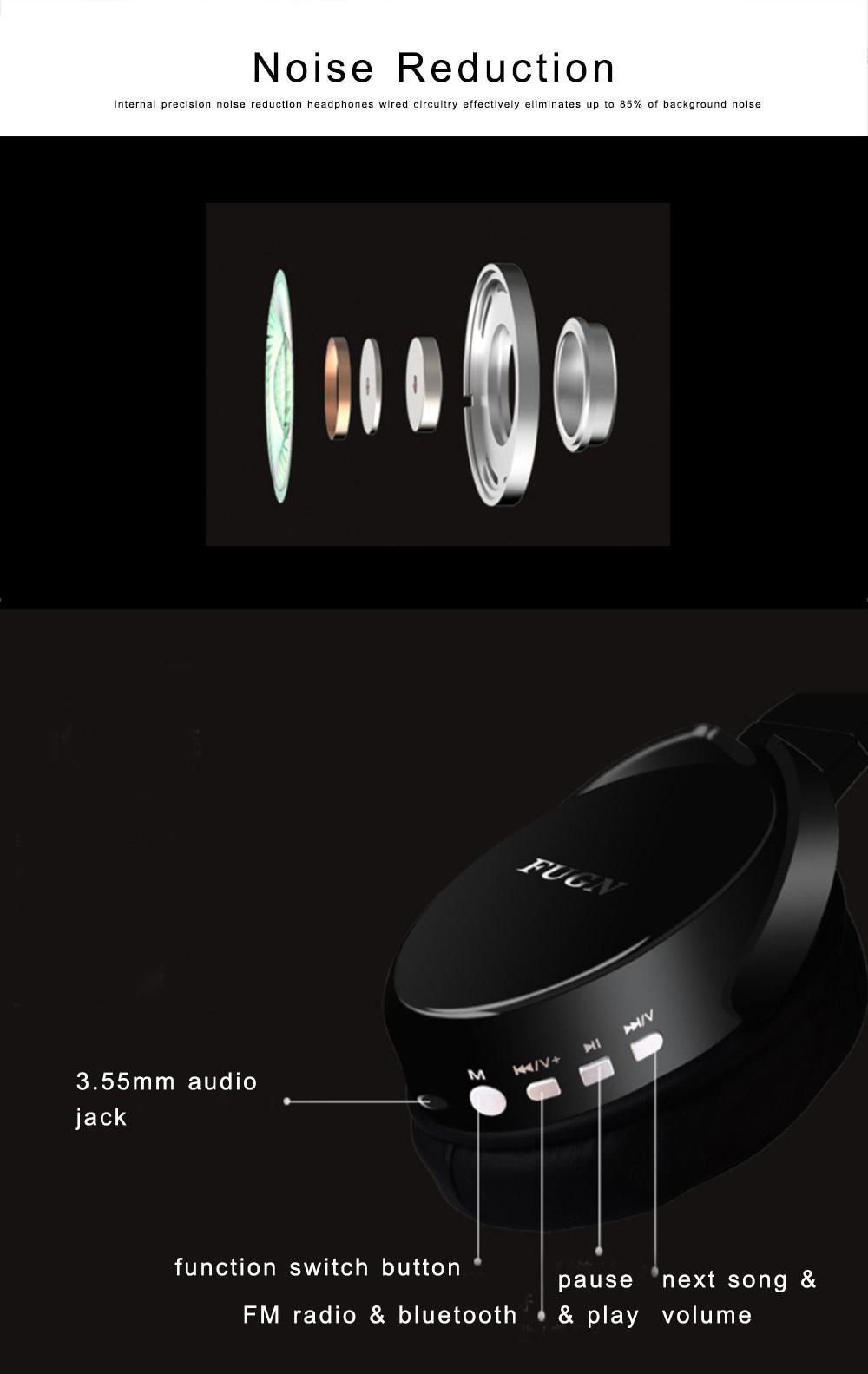 Bluetooth 4.2 Sport Headset Over Ear Headphones Lightweight Stereo Wireless Headphones earphone with 30-60m Transmission Range 1
