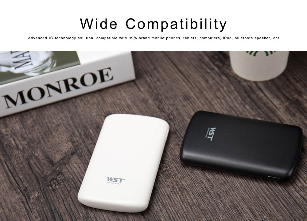 Portable Power Bank 5000mAh, Lithium Polymer Battery Charger for Phone Charger iPhone iPad Other Smart Devices 5
