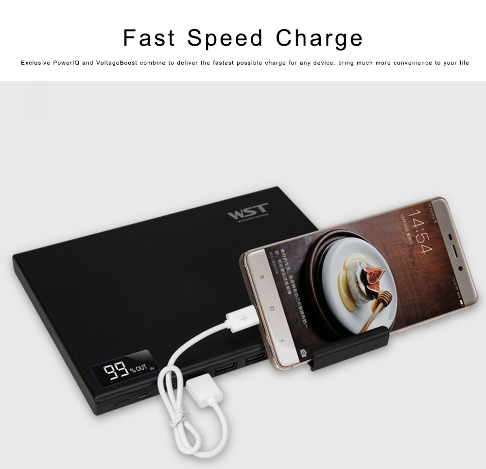 Laptop Power Bank 30000mAh Portable Smart Phone Type-C Charger with DC Output 5-12 for Fast Charging Digital Devices 2