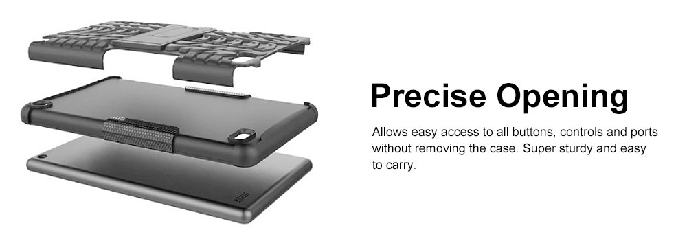 Full Protection Case for Kindle fire7 2017 Anti-slip Shockproof Impact Resistance Protective Case Cover with Kickstand 2