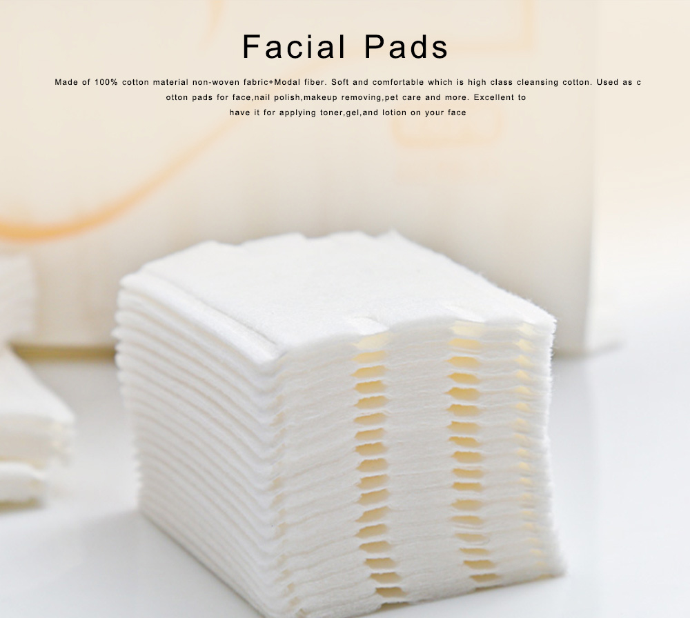 222pcs in a Bag Double-sided Facial Pads Thickening Makeup Facial Soft Cotton Pads for Face Makeup Cleansing Water saving 0