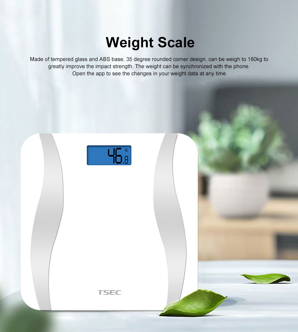 Digital Body Fat Scale Smart Wireless Bluetooth Weight Scale with BMI Calculation  Analyzer Health Monitor 0
