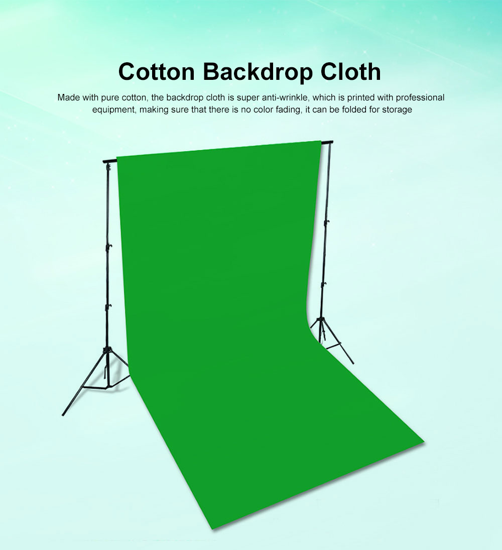 Green Screen Soft Cotton Cloth Studio Background ID Photo Photography Washable Backdrop 3x6M 0