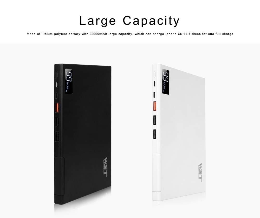 Laptop Power Bank 30000mAh Portable Smart Phone Type-C Charger with DC Output 5-12 for Fast Charging Digital Devices 3