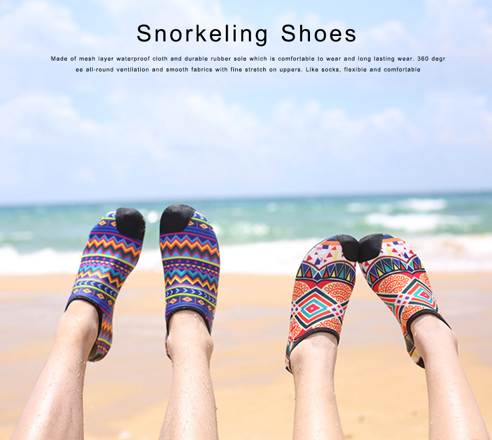 Snorkeling Shoes for Adults, Breathable Slip-on Water Sport Shoes anti-slip Aqua Socks for Men Women 0