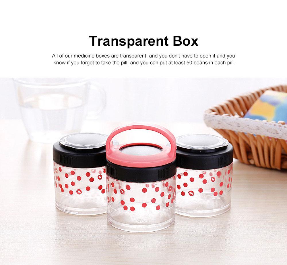 Medicine Storage Box Fashion Portable Environmentally Friendly Non-toxic PP Box for  Drug Storage Box 2