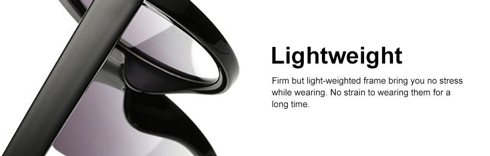 Oversized Cat Eye Sunglasses Creative Lightweight Thick Frame Sunglasses Polarized Trendy Mirrored Lens for Women 4