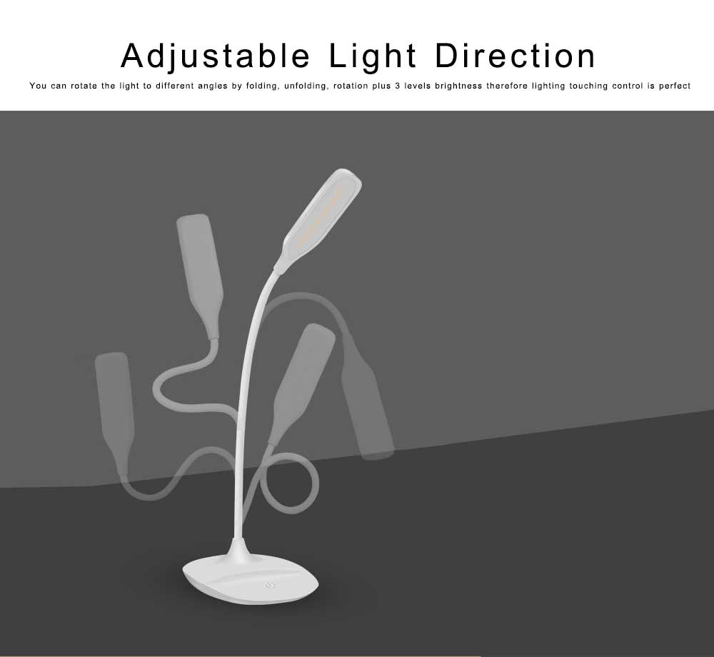 LED Reading Light for Working, Studying, Multifunctional Rechargeable Touching Desk Light Adjustable Table Lamp Bedside Lamp for Home Decor 1