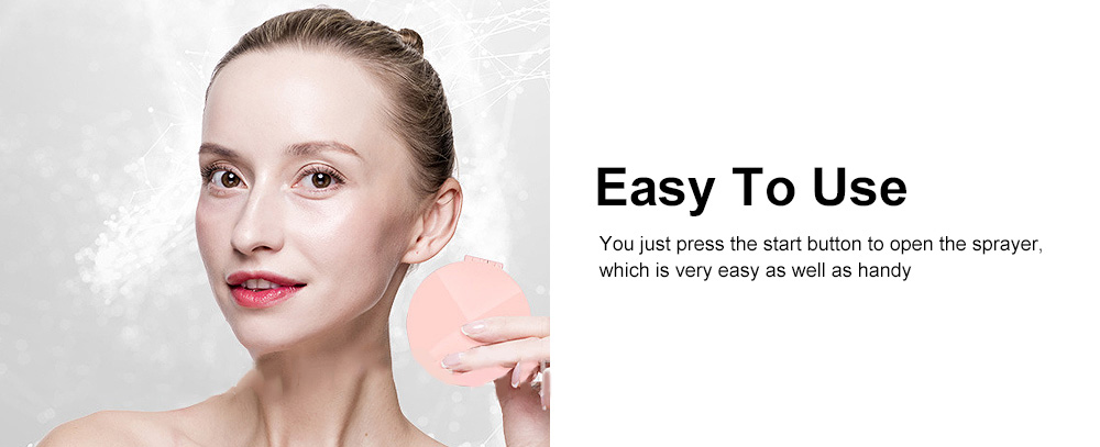 Multipurpose Mist Sprayer with Cosmetic Mirror Rechargeable Water Sprayer Used for Power Bank 5