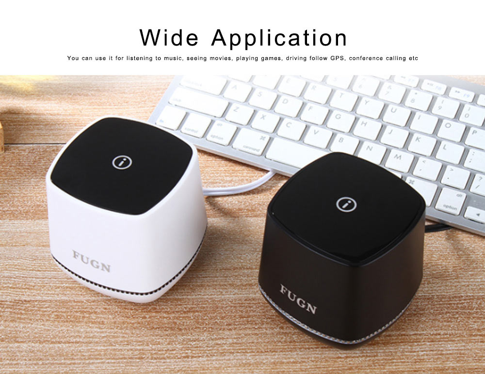 USB Speakers with 3D Sound Quality, Portable Mini Computer Speaker, Stereo Speakers for Phone iPod Laptop 1