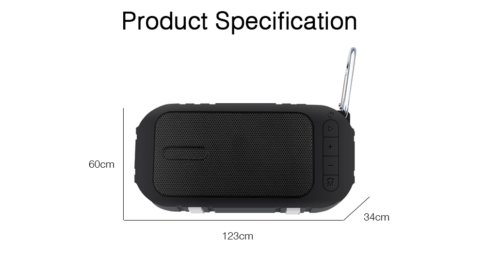 Wireless Bluetooth Speaker Compatible with Phone, Computer, Tablet, Vehicle System, Mini Chargeable Bluetooth Subwoofer with Extended Storage Speaker 6