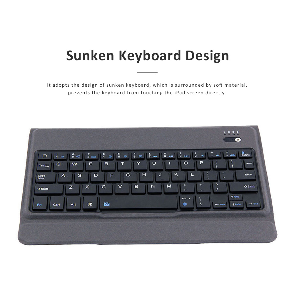 Bluetooth Keyboard Magnetic Flip Case for iPad Air 1, iPad Air 2, iPad Pro 9.7, iPad 9.7 2018, iPad 9.7 2017, Ultra- Thin Split Type New iPad 9.7 Colorful Backlit External Bluetooth Protective Cove 3
