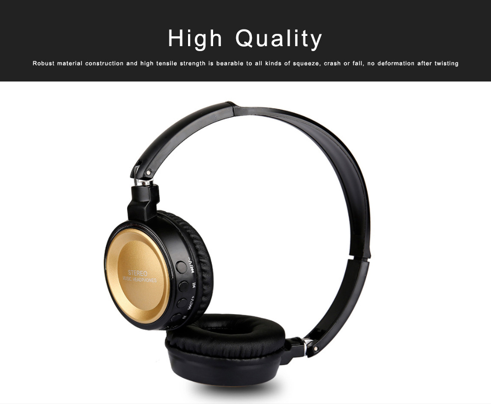 Bluetooth V4.2 Headset, Wireless Hi-Fi Stereo Noise Cancelling Over-ear Headphone with Built in Microphone 3
