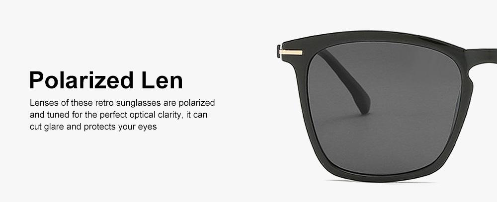 Retro Polarized Sunglasses Vintage Style with UV400 Protection & Anti-Glare Lens for Women 3