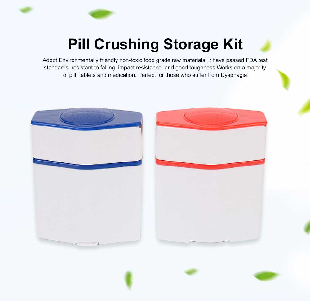 Pill Cutter Vitamin Pill Cutter Medicine Splitter Pill Crushing Storage Kit  for Kids, Elderly, Adults 0