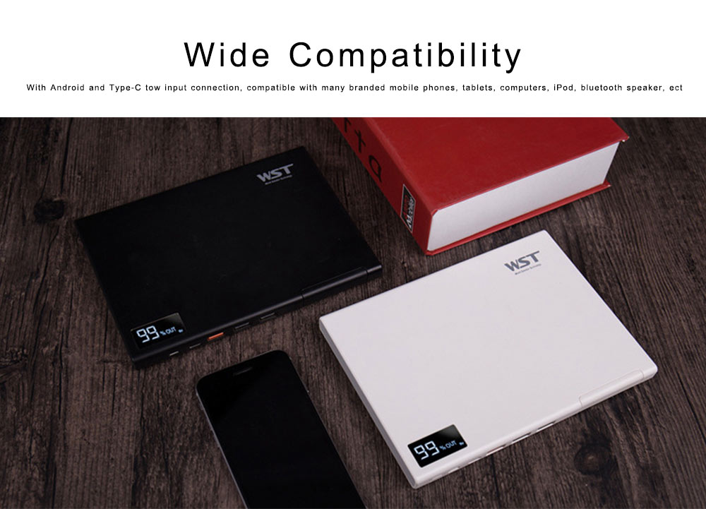 Laptop Power Bank 30000mAh Portable Smart Phone Type-C Charger with DC Output 5-12 for Fast Charging Digital Devices 5