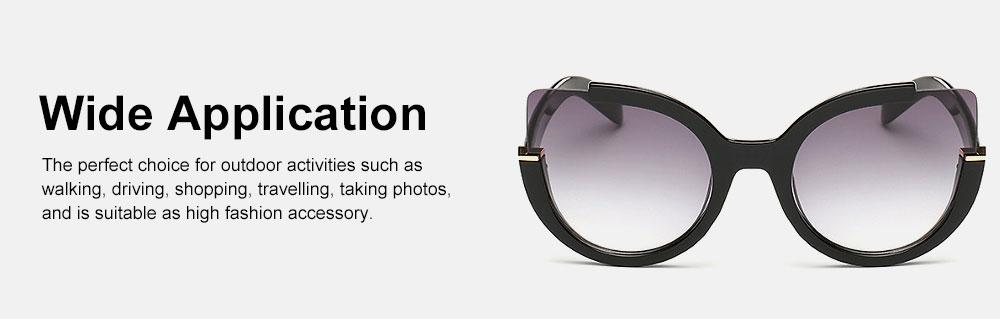 Oversized Cat Eye Sunglasses Creative Lightweight Thick Frame Sunglasses Polarized Trendy Mirrored Lens for Women 5