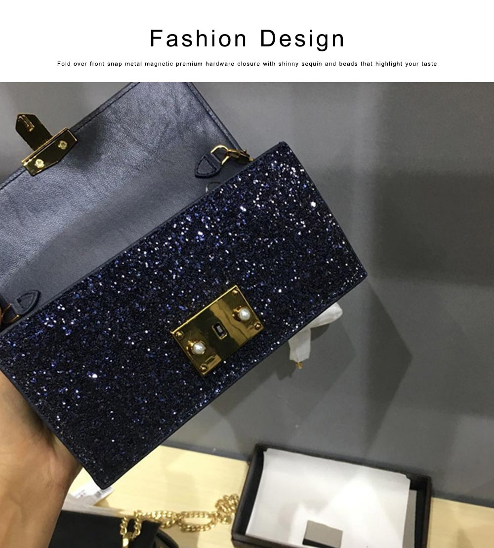 Women Long Purse Vintage Ladies PU Leather Wallets Sequin Handbags Slim Clutch Bag Make Up Bag Banquet Bag 2