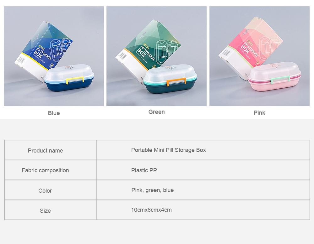 Sealed Pill Box for Medicine Oral Liquid Hardware Flexible Removable Plastic Compartment Portable 7 Days Moisture-Proof Mini Pill Case 8