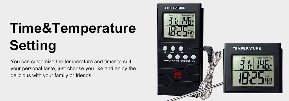 Food Thermometer Remote Cooking Food Barbecue Digital Grill Thermometer Portable Kitchen Accessories Wireless Meat Thermometer 3