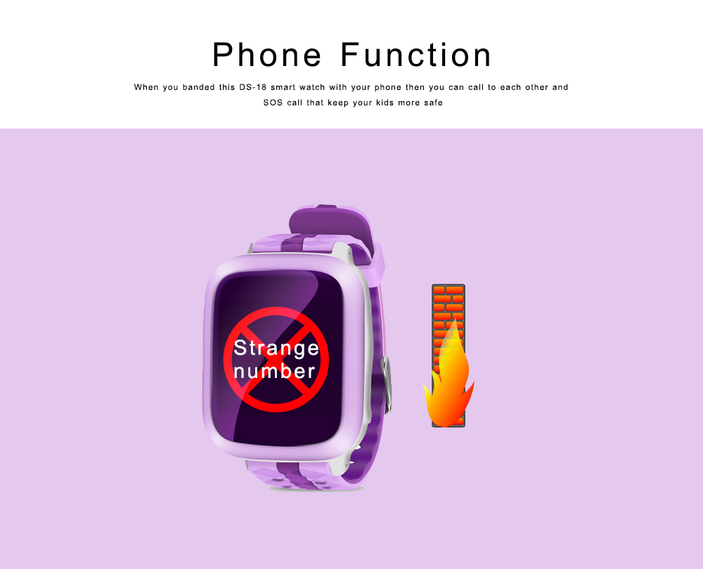 Children Teens Smart Watch, Waterproof GPS Smartwatch Phone with Phone Call, SOS, Remote Monitoring, Pedometer 5