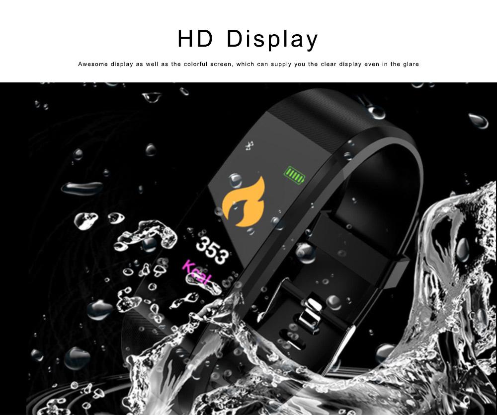 Bluetooth Smart Sports Bracelet, Waterproof Smart Activity Tracker Smartwatch Wristband for Men Women 3
