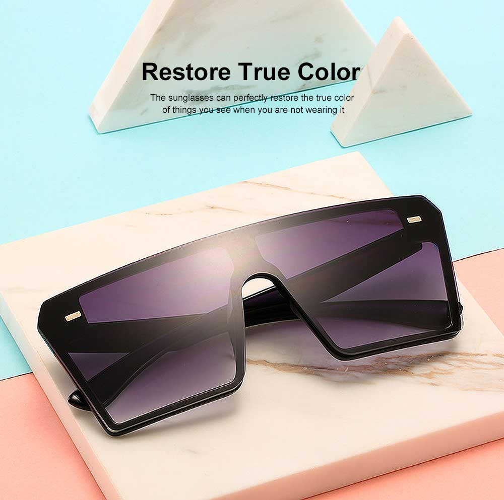 Frameless Unisex Sunglasses Gradient Colors Anti-Glare Lens with Comfortable Nose Pad UV Protection Sunglasses 2
