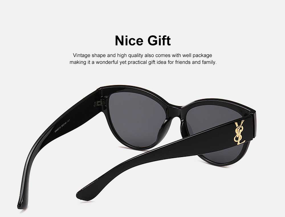 Women's Round Sunglasses Vintage Lightweight Thick Frame Eye Protection Sunglasses Fashion Accessories for Women Best Gift 1