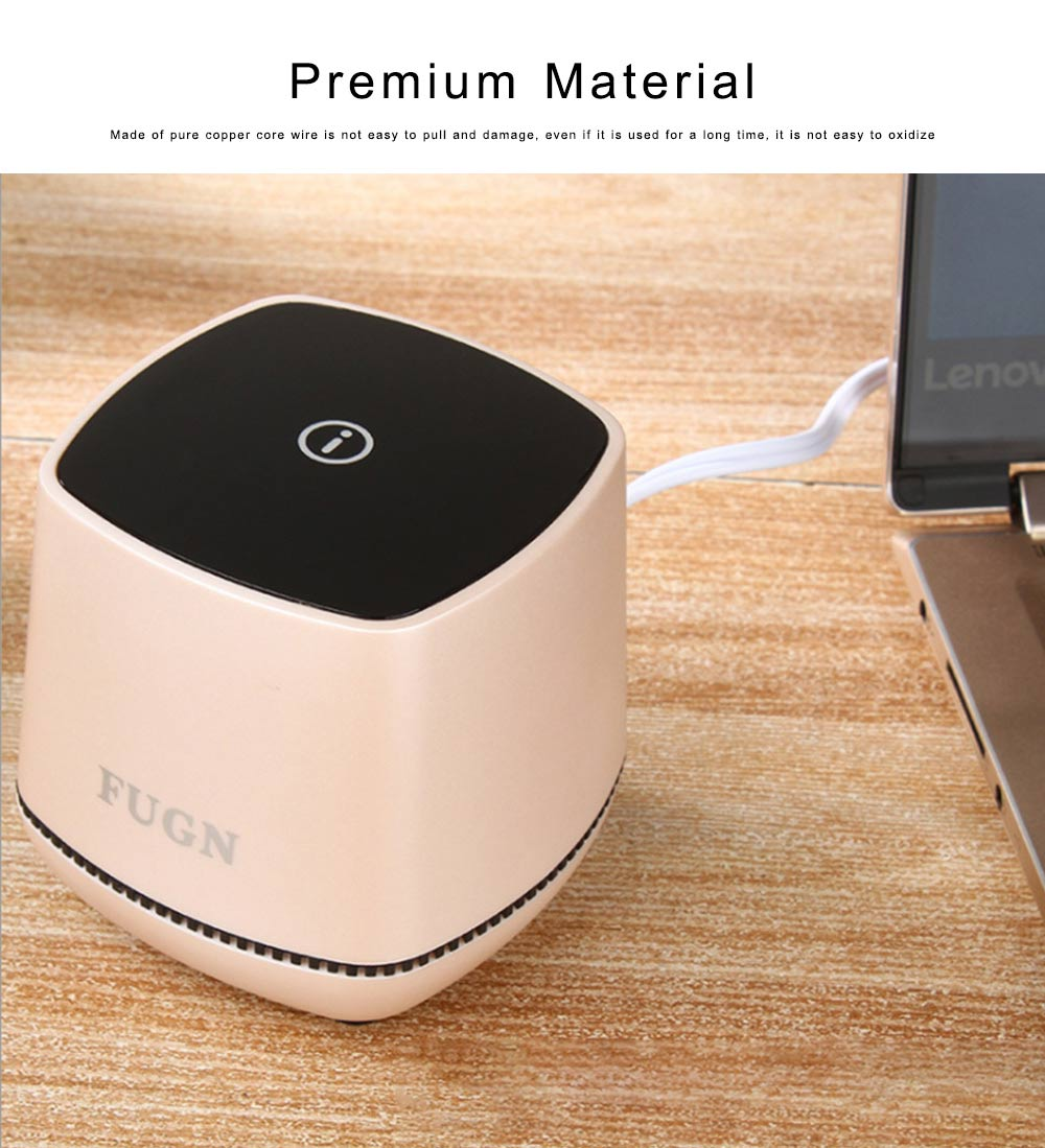 USB Speakers with 3D Sound Quality, Portable Mini Computer Speaker, Stereo Speakers for Phone iPod Laptop 3